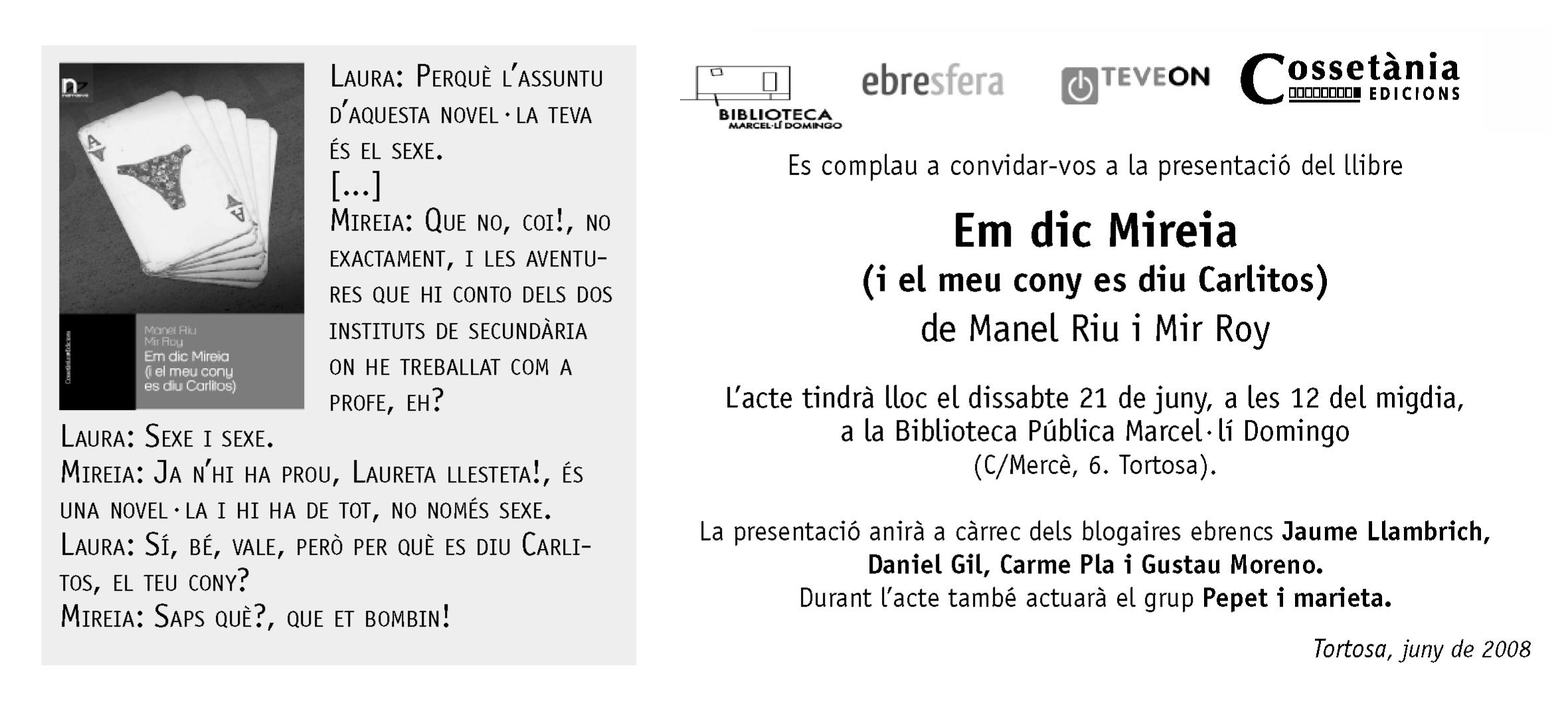 Targetó presentació Mireia a Tortosa