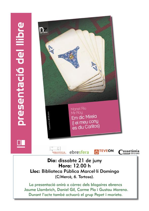 Presentació llibre Em dic Mireia a Tortosa